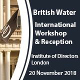 International reception global water feature event box