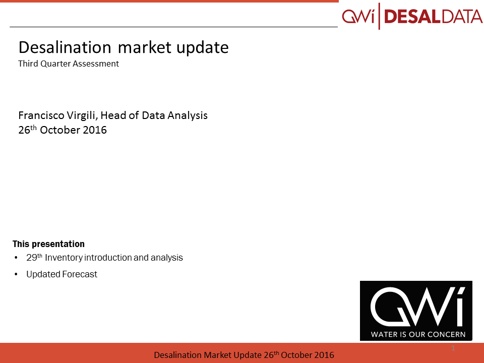 Desaldata webinar slides subscribers october 2016 copyright global water intelligence