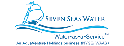Seven seas water with stock ticker